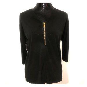 Michael Kors 3/4 zip blouse